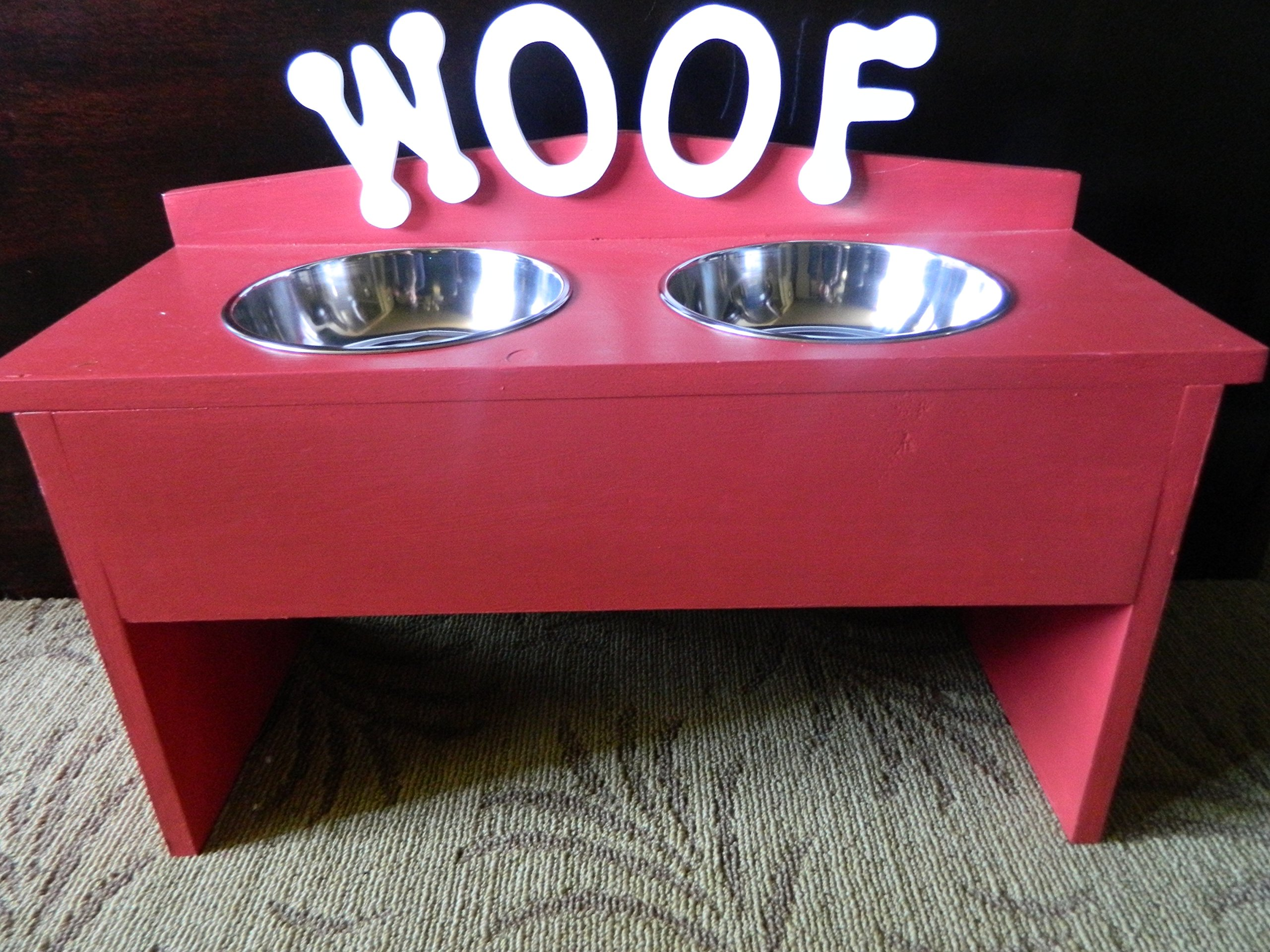 Schmoopsie Couture Large Red Elevated Dog Feeder (Large)