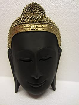 "Earth ""Buddha Mask "" (Multicolor, 6.5 x 3.5 x 7 In) Idols & Figurines at amazon"