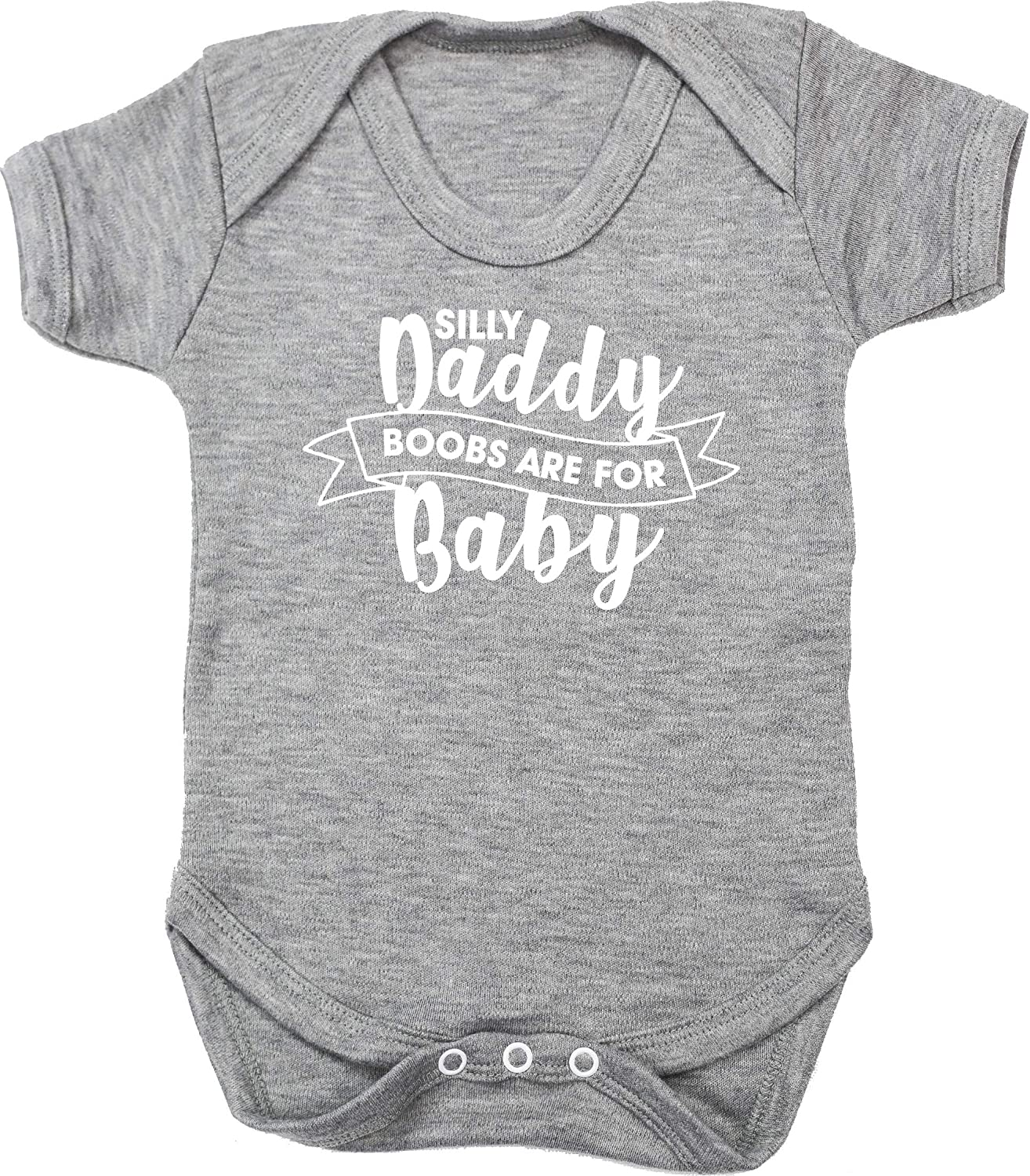 Short Sleeve Hippowarehouse Silly Daddy Boobs are for Baby Baby Vest Bodysuit Boys Girls