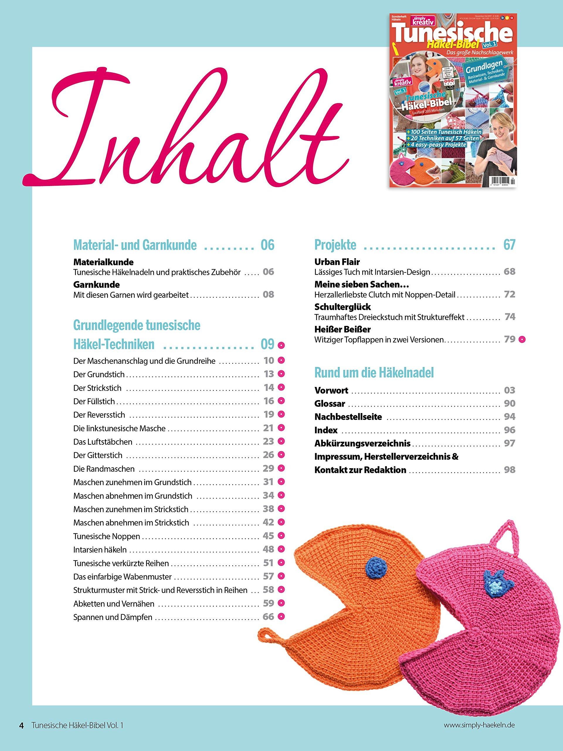 Amazonfr Simply Kreativ Tunesische Häkel Bibel Volume 1 Das