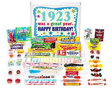 Woodstock Candy 1923 96th Birthday Gift Box Of Vintage From Childhood For 96 Year