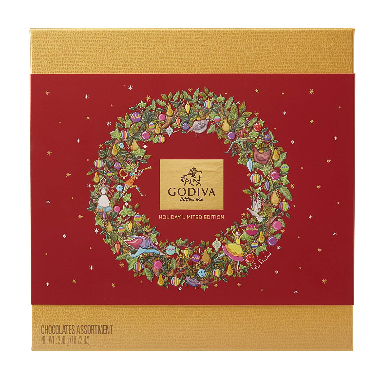 Godiva, Navidad 2018 bombones pralines surtidos caja regalo 24 ...