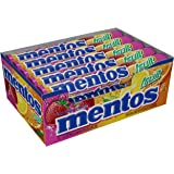 Mentos Chewy Mint Candy Roll, Fruit, Halloween Treat, Non Melting, Party, 14 Pieces (Bulk Pack of 15) - Packaging May…