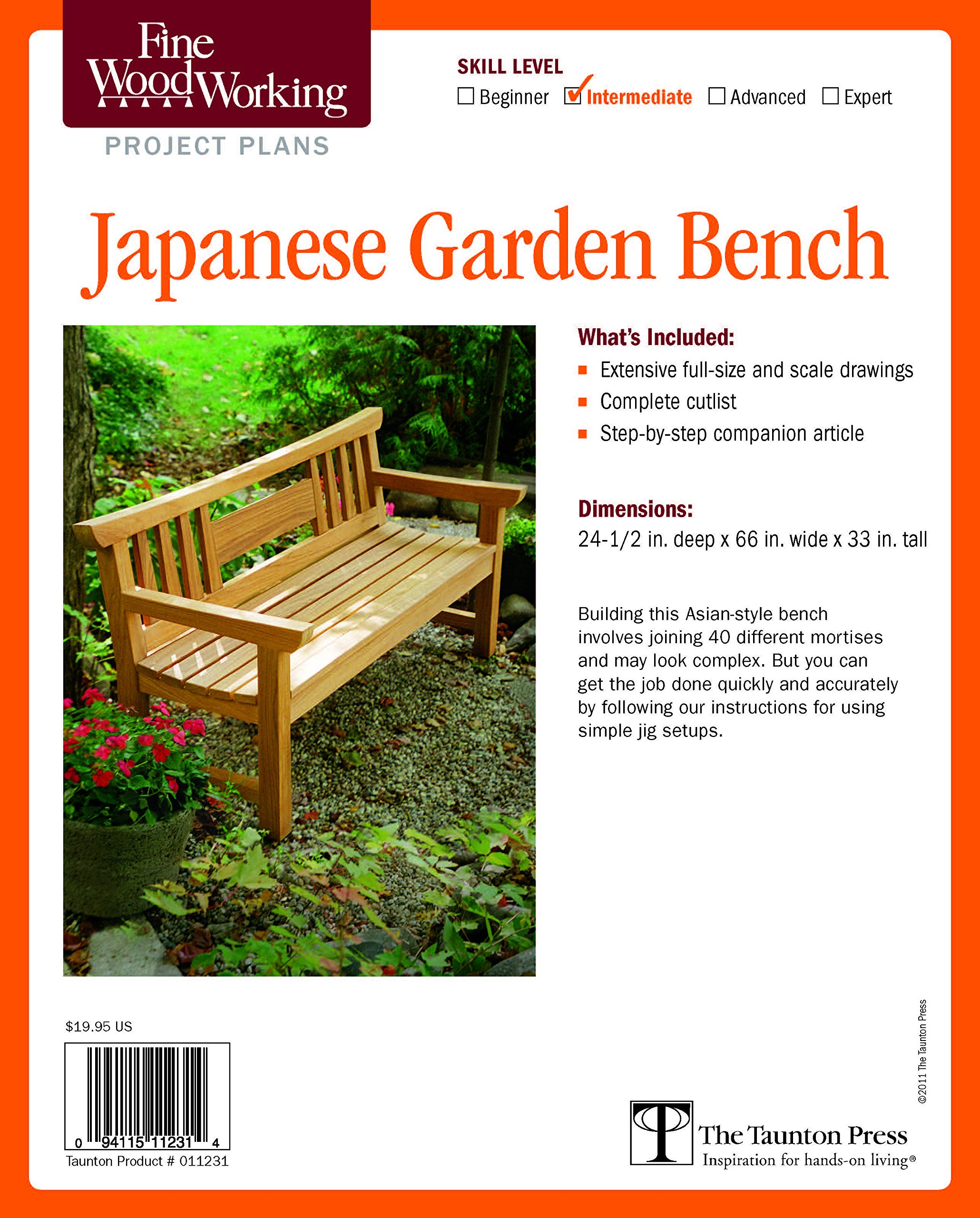 Fine Woodworking's Japanese Garden Bench Plan (Fine Woodworking Project Plans) by Taunton Press