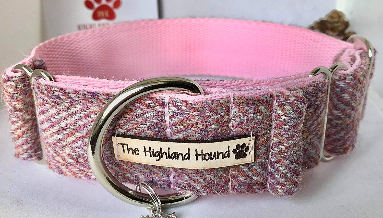 Martingale Dog Collar Harris Tweed Greyhound Whippet