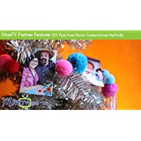 MomTV Partner Feature: DIY Pom Pom Photo Garland from MyPrintly