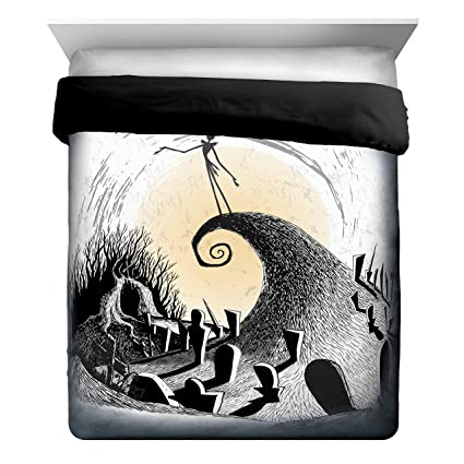 disney nightmare before christmas moonlight madness fullqueen comforter super soft kids reversible bedding - Nightmare Before Christmas Bedding Queen