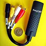 EasyCAP USB Video-Audio Capture Device with 2.0 PAL and SECAM (Also Suitable for Win 8) with Suite ShowBiz 3.5