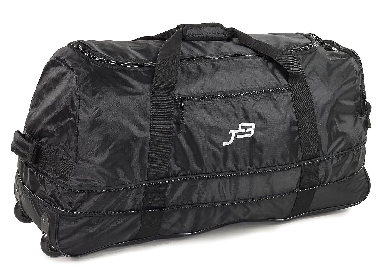 JB Ultralight XL120L Expanding Foldaway Rolling Duffle Holdall on Wheels in Black JB-001