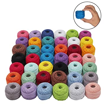 Kurtzy Crochet Thread 42 PCS Cotton Thread Balls
