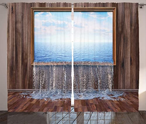 Ambesonne Waterfall Curtain