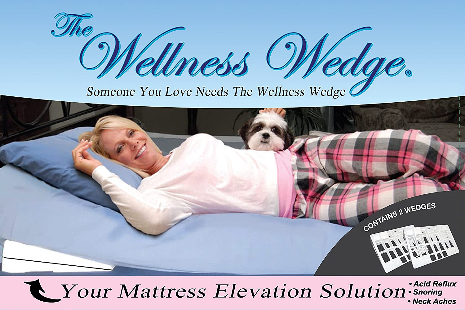 amazon com the wellness wedge your mattress elevation solution two