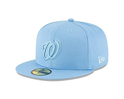 New Era Washington Nationals Tonal Pastel Sky Blue Fitted 59Fifty MLB Hat (7  1  1084699f658a