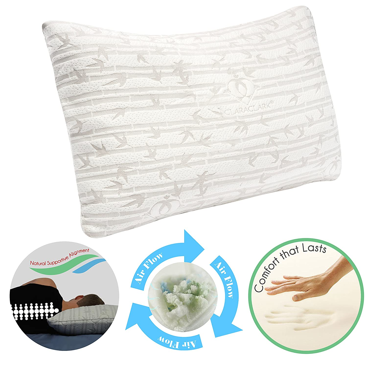 contour aeris pillow new vitality sleep premium memory shipping of with side free blu sleeper foam fresh king ventilated today size