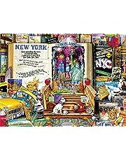 Buffalo Games 11742-Aimee Stewart-Life is an Open Book-New York-1000 Piece Jigsaw Puzzle