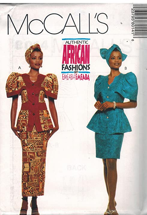 Amazon 60 McCalls Sewing Pattern UNCUT Misses Top Skirt Impressive African Sewing Patterns