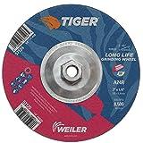 "Weiler 57124 7"" x 1/4"" Tiger Type 27 Grinding"