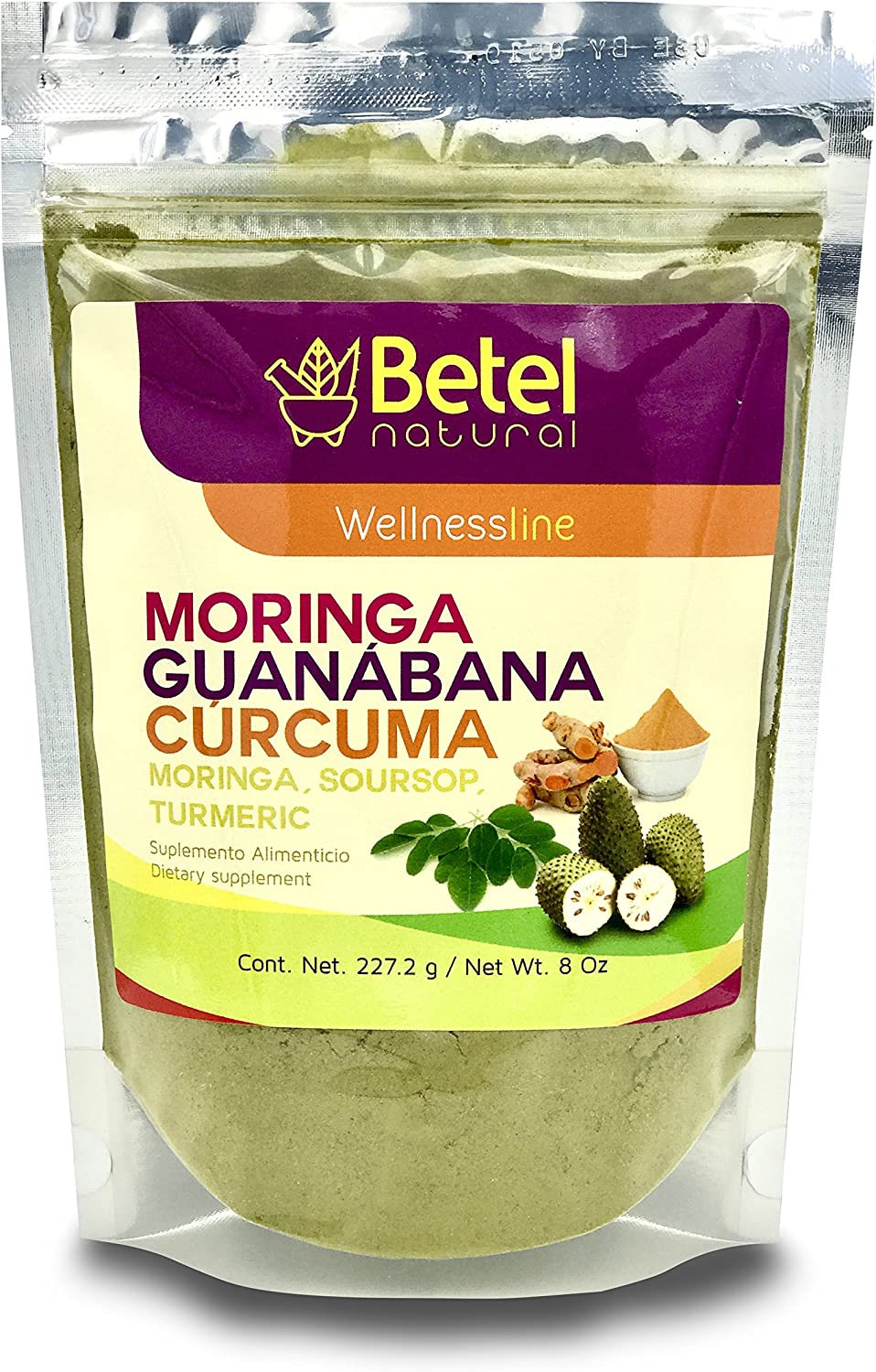 Moringa Guanabana and Curcuma Powder - Betel Natural 8 Oz