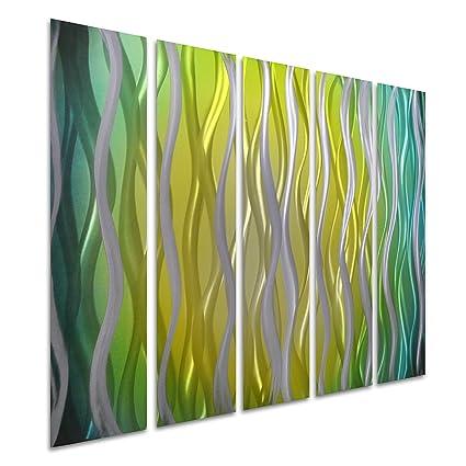 Amazon.com: Pure Art Strings of Peace - Colorful Metal Wall Art ...