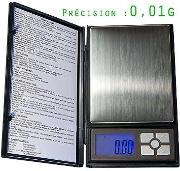 Básculas - Alta precisión - XL - muy precisa : 0,01g - 500g máx: Amazon.es: Oficina y papelería