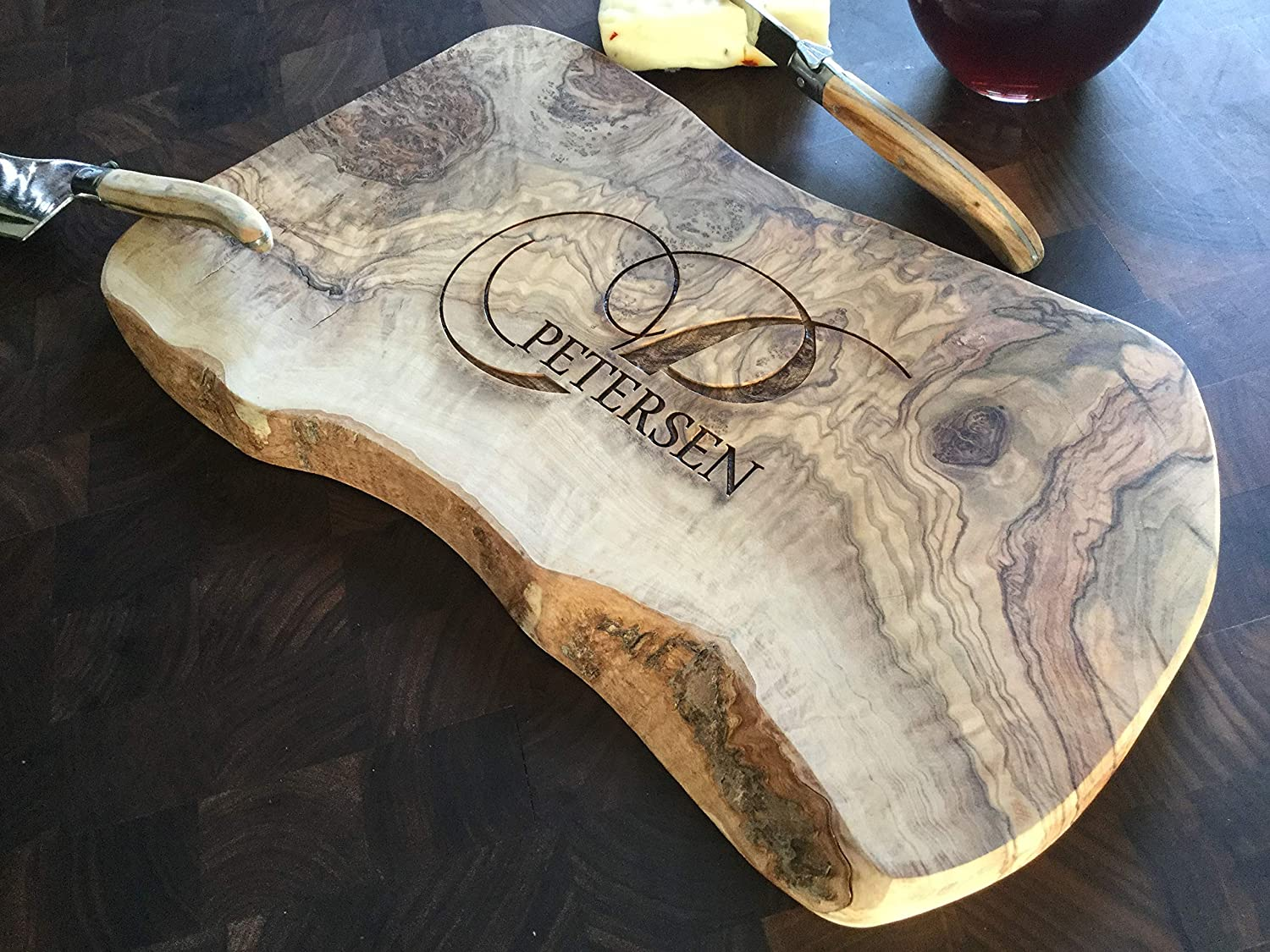 personalized olive wood cutting board olive wood cutting board olive wood cheese board