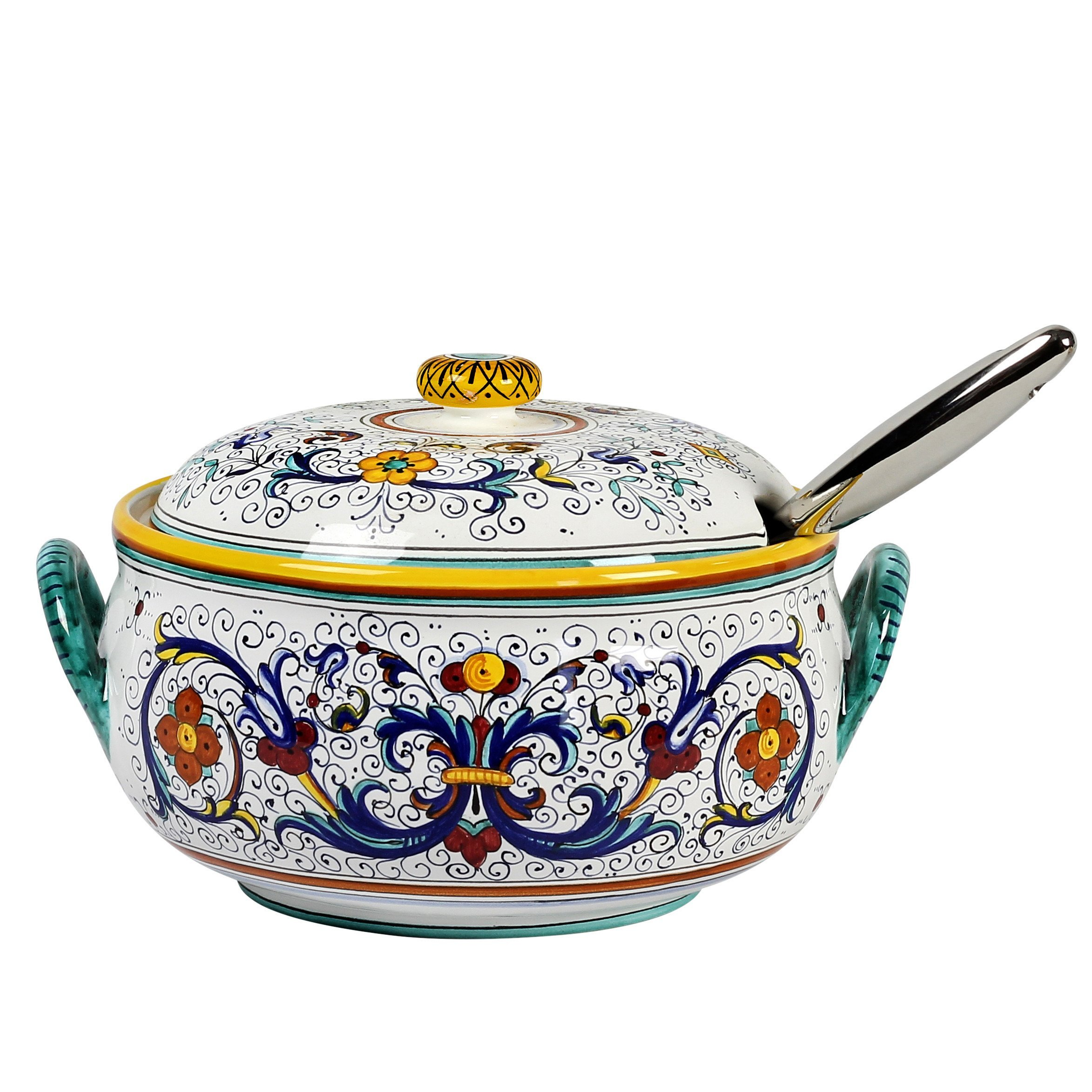 RICCO DERUTA: Round Soup Tureen with Stainless Steel Laddle