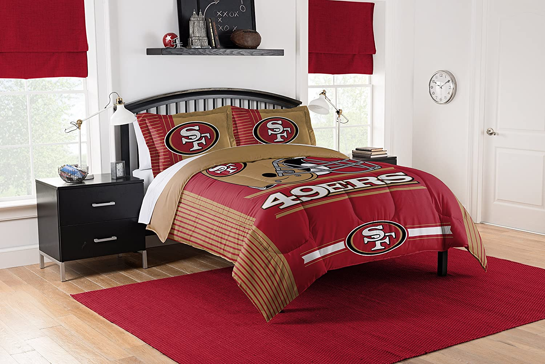 Officially Licensed NFL San Francisco 49ers Safety King Comforter and 2 Sham Set