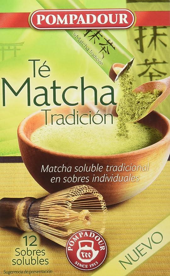 Pompadour Té Matcha Tradición Soluble - Pack de 5 x 12 Cómodos ...