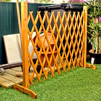 Expanding Fence Garden Screen Trellis Style Expands To 6u00272u0026quot;  Freestanding Wood