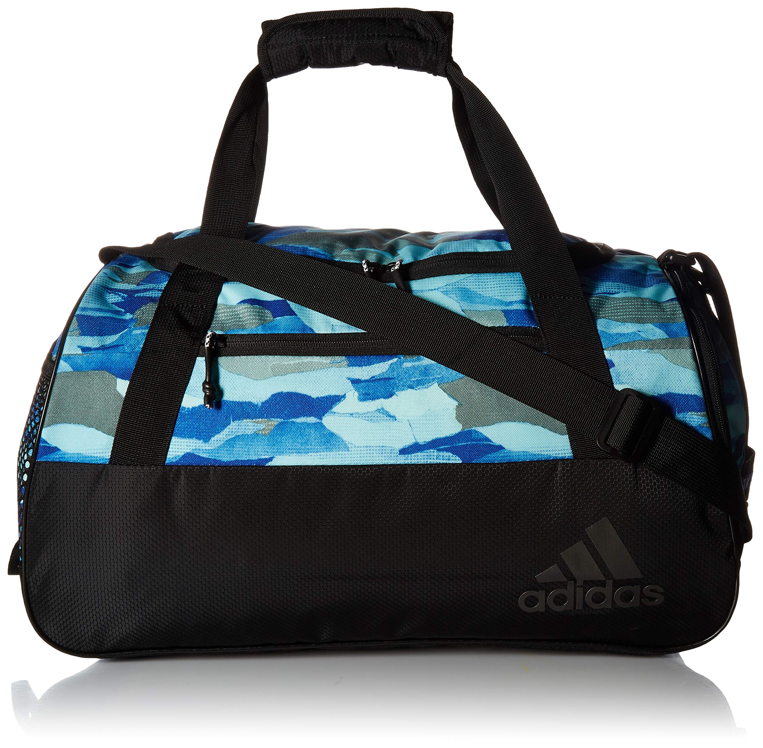 adidas Squad Duffel Bag, Clear Mint Running Camo/Black, One Size