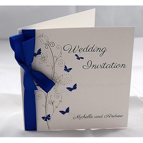 Cheap Blue Wedding Invitations: Blue Wedding Invitations: Amazon.co.uk