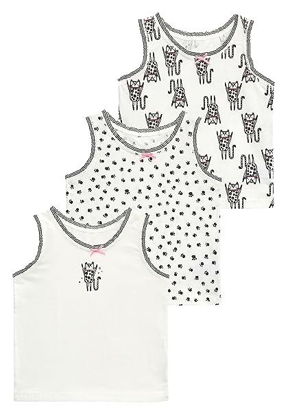 next Niñas Pack De Tres Camisetas Sin Mangas con Diseño De Gato (1,5