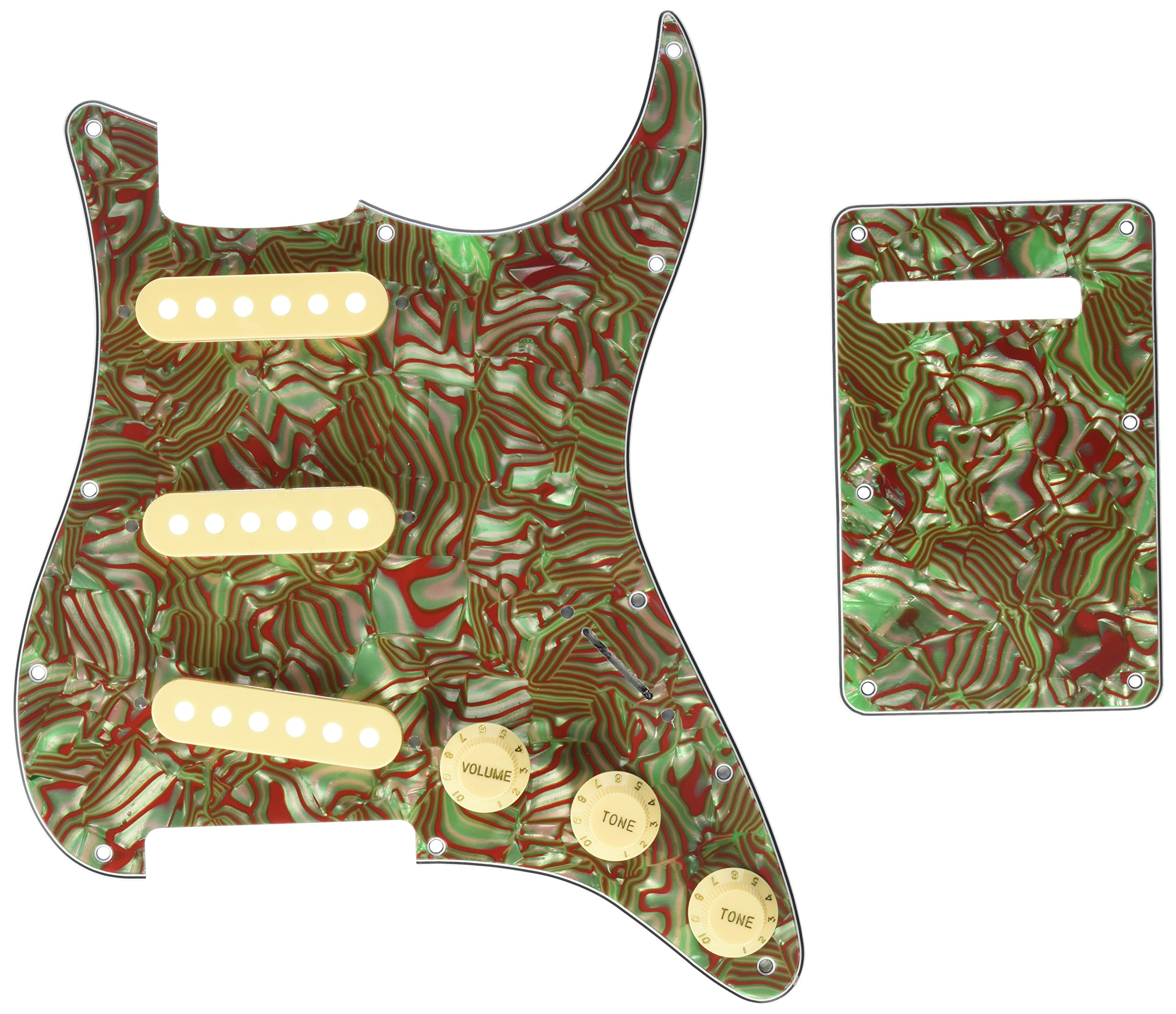 Kmise Z4705 Set Breen Shell Guitar Pickguard Back Plate Tremolo Cavity & Pickup Cover by Kmise (Image #1)