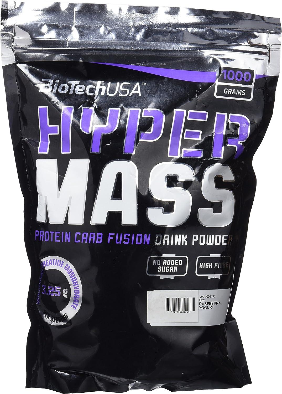 Biotech USA Hyper Mass 5000 Ganador de Peso y Carbohidratos Sabor Frambuesa y Yogurt - 1000 gr