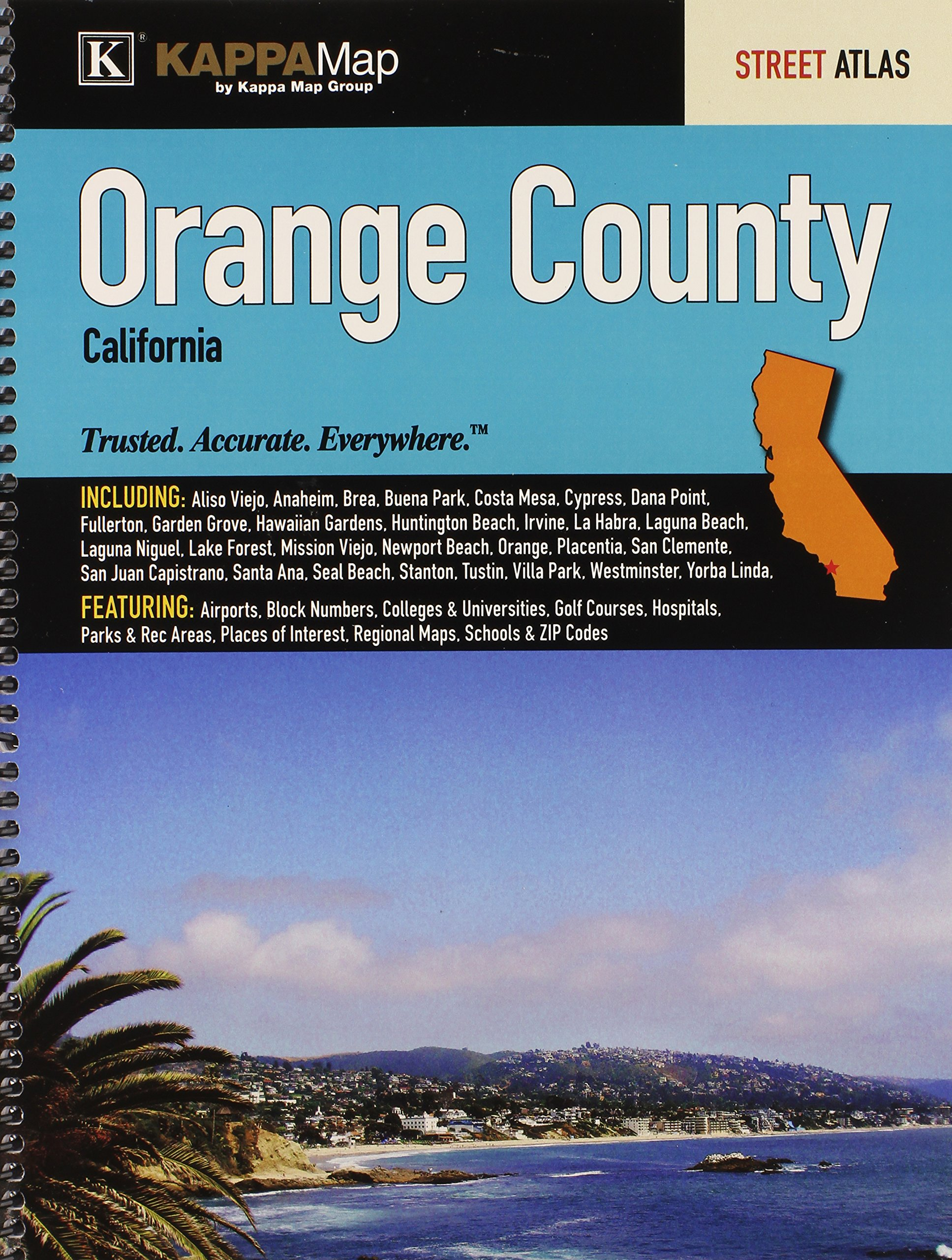 Orange County, CA Street Atlas: Kappa Map Group ... on orange county california map, flagstaff california map, atwater village california map, california california map, antioch california map, artois california map, burson california map, carmel by the sea california map, olive california map, bodfish california map, cardiff by the sea california map, azusa california map, all of california cities map, boyle heights california map, farmington california map, cherry valley california map, kenmore california map, waterville california map, casmalia california map, hillsboro california map,