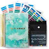 Productivity Planner - Goals & Gratitude Planner with Bonus Pens, Stickers, and Sticker Tabs (Undated) - Busy Bee…