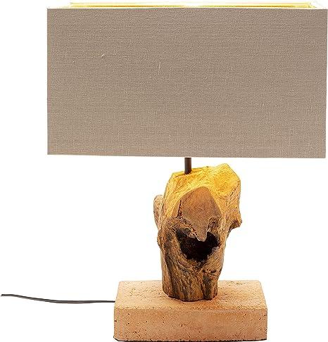 Kare Nature Root - Lámpara de mesa, color marrón: Amazon.es ...