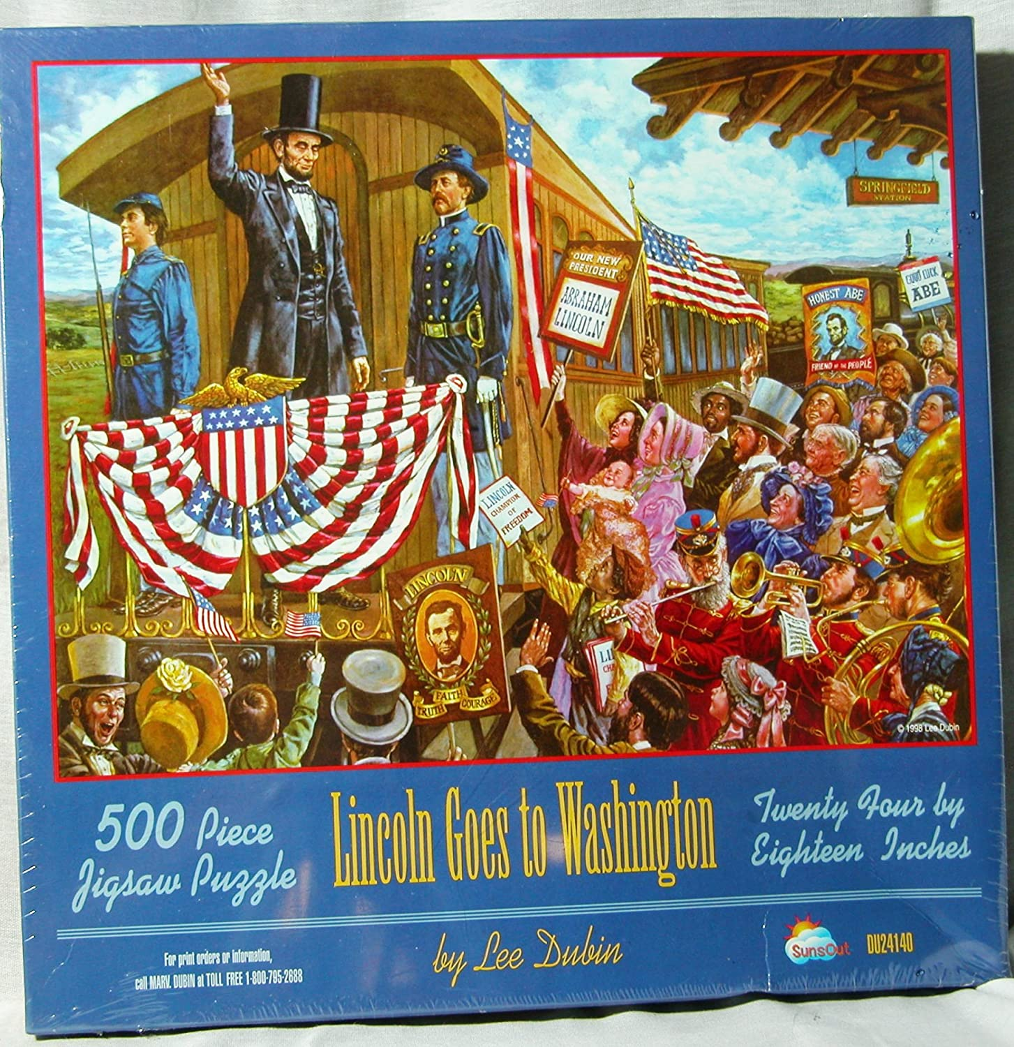 Lincoln Goes to Washington 500 Piece Jigsaw Puzzle Lee Dubin
