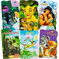 Disney Baby Toddler Beginnings Board Books Super Set (Set of 6 Toddler Books - Aladdin, the Aristocats, Peter Pan, the…