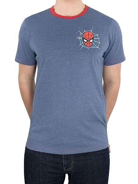 Spiderman Marvel El Hombre Araña - Camiseta para Hombre  Amazon.es  Ropa y  accesorios 33ce58511eec4