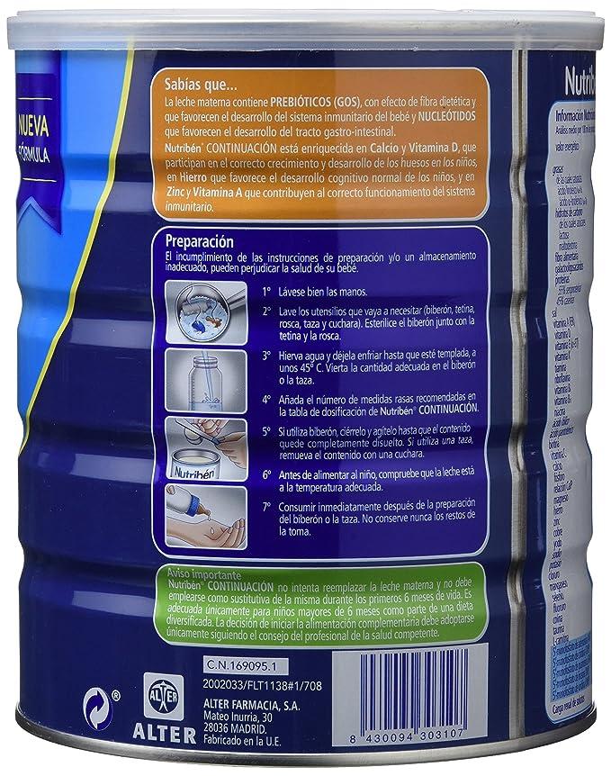 Nutribén Continuación 2 - Pro Alfa 800G: Amazon.es: Alimentación y bebidas