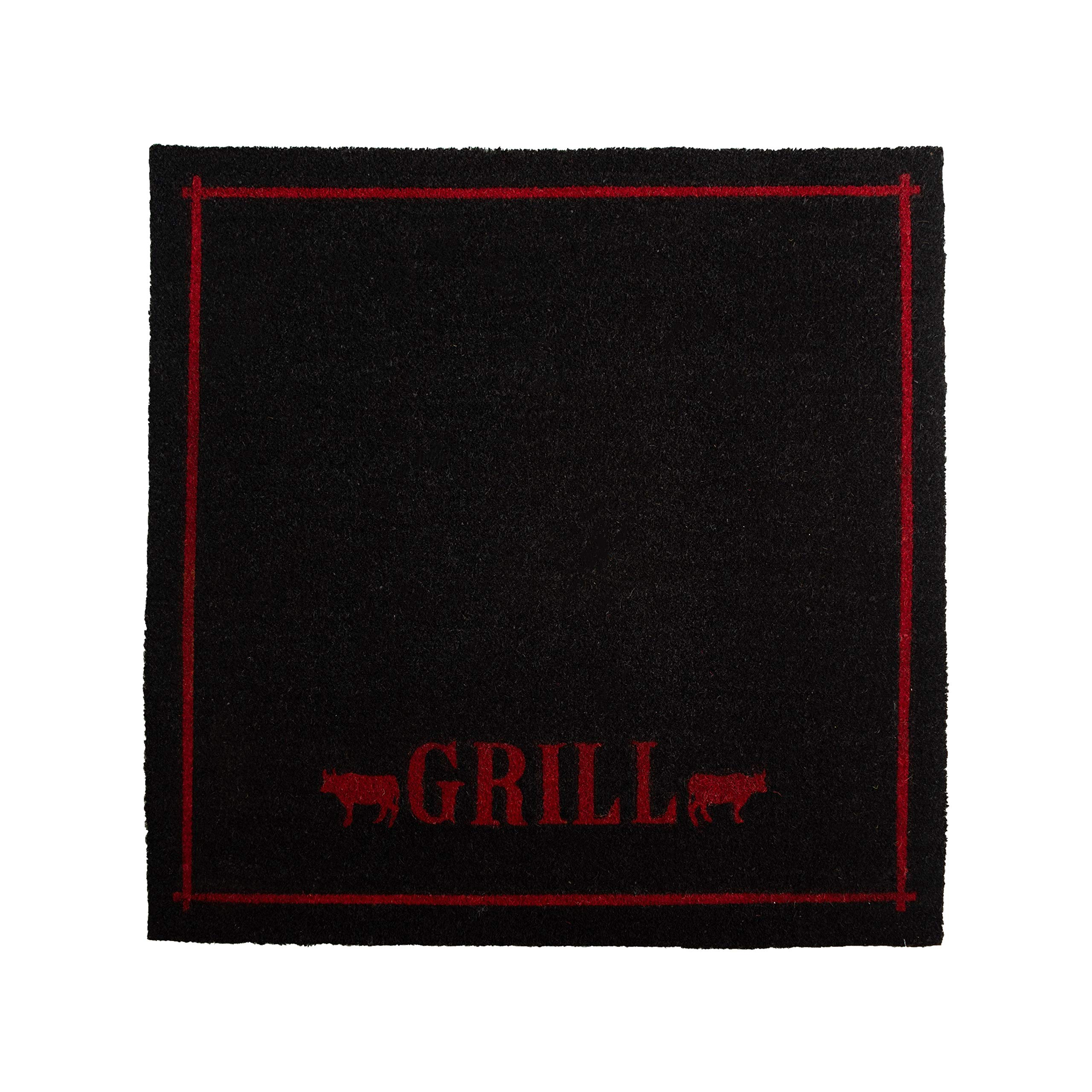 Calloway Mills 120884646 Outdoor Grill Mat, 46'' x 46'', Red/Black by Calloway Mills