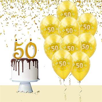 Anniversario Matrimonio 9 Anni.Kit Palloncini E Candeline Torta Per Festa Compleanno Anniversario