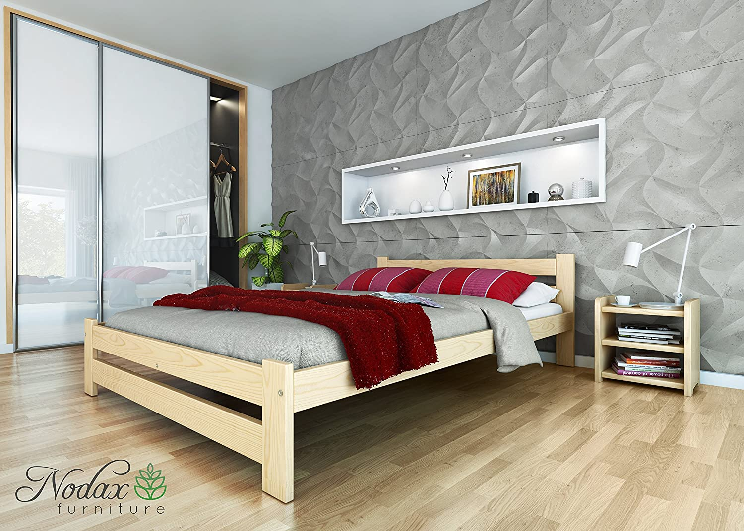 New wooden solid pine king size bed frame