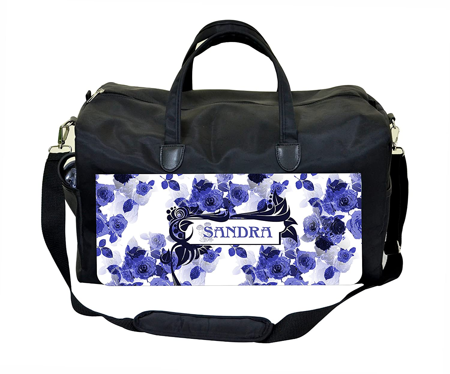 Vintage Style Blue Roses Jacks Outlet TM Customizable Weekender Bag