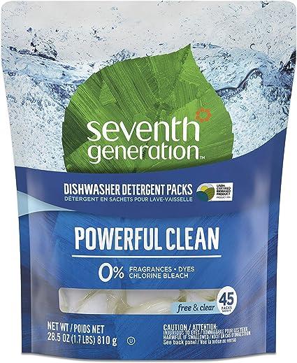 Amazon.com: Seventh Generation Auto Dish Packs, SEV 22897CT ...