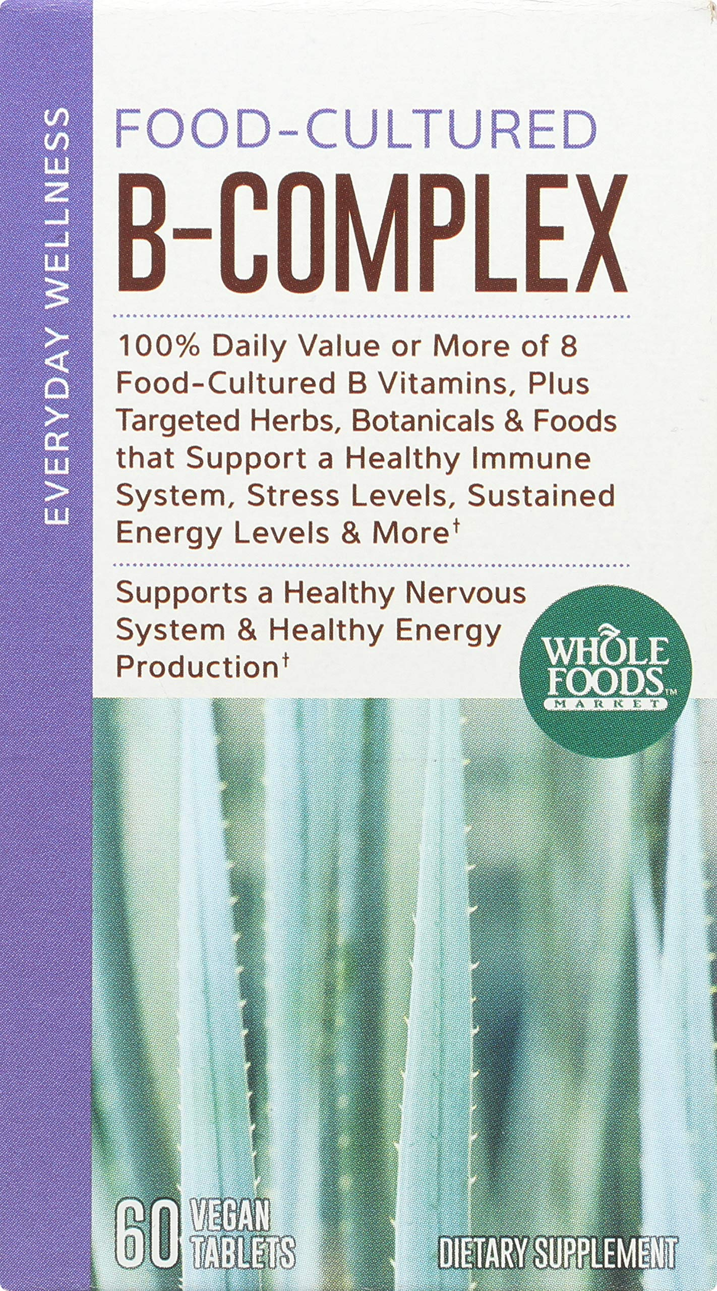 Whole Foods Market, Food-Cultured B-Complex, 60 ct