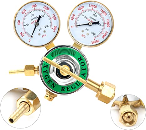 "Pro Pressure Oxygen OXY Regulator Welding Gas Gauge Cutting Torch Tool 2/"" Gauges"
