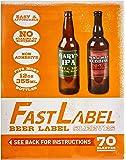 FastLabel Beer Label Sleeves, 70ct