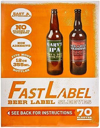 FastFerment FL - Etiquetas de plástico para botellas de cerveza (12oz)